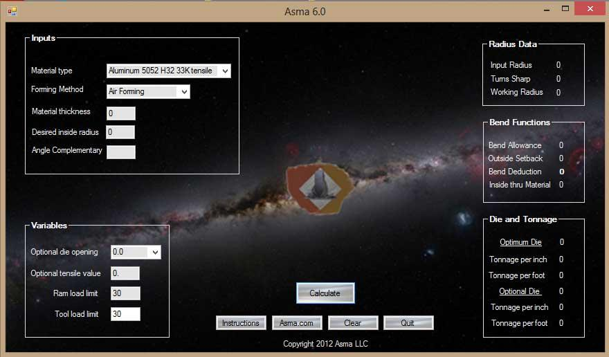 Bending software - ASMA 6.0.1
